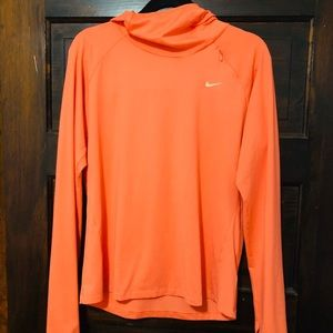 Nike dry fit light weight top with hood
